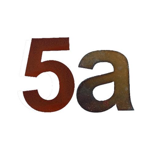 Huisnummers Cortenstaal