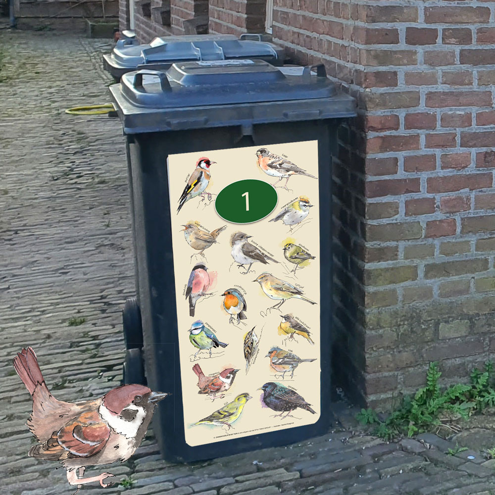 Kliko stickers zangvogels in de tuin
