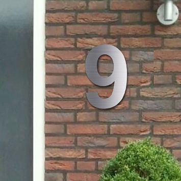 Losse huisnummers RVS