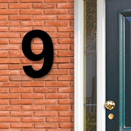 Huisnummers acryl zwart