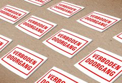Sticker Formaat 150x150 mm