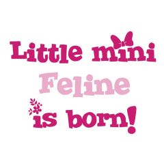 Geboortesticker Little Mini is born | Baby meisjesnaam