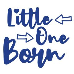 Geboortesticker Little one born