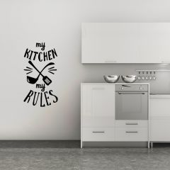 Muursticker My Kitchen, My rules