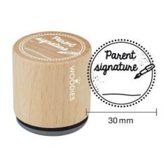 "School stempel Houten handstempel ""Woodies"" 