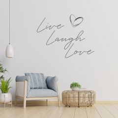 Woonkamer muursticker Live Laugh Love