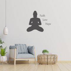 Woonkamer muursticker Faith, Love, Hope