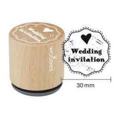 Houten handstempel Woodies Wedding Invitation