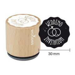 Houten handstempel Woodies Wedding Invitation ring
